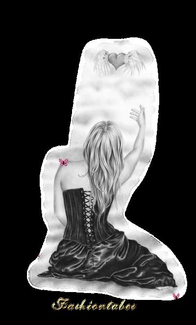 femme dos robe corset noir