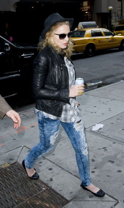 Madonna in New York at NBC Studios - April 25, 2011