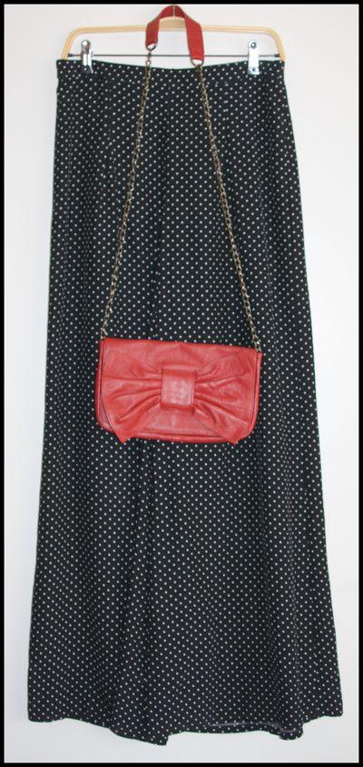 Sac rouge noeud Kookaï pantalon à pois Zara - collection
