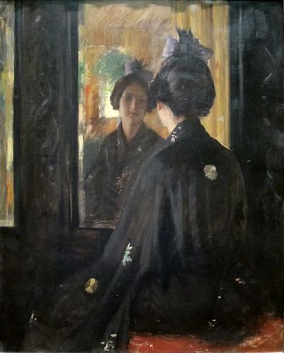 481px-%27The Mirror%27 by William Merritt Chase%2C Cincinna