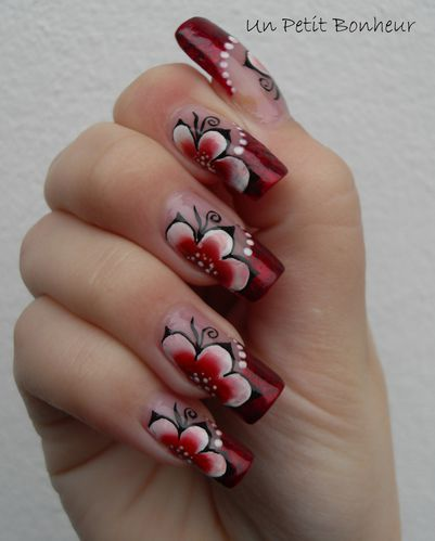 One stroke nouvel an nail art par un petit bonheur - Nail art nouvel an ...