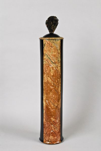 08Dufayard,Tall Box,2012,85x17cm,Slipware 2