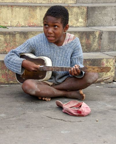 Madagascar, Tananarive, gamin des rues