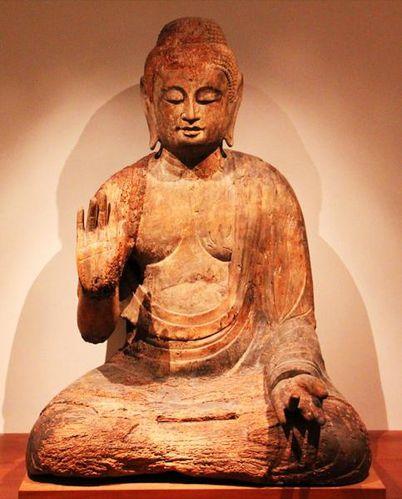786f1 Musée Guimet, Bouddha assis (Japon, 11e siècle)