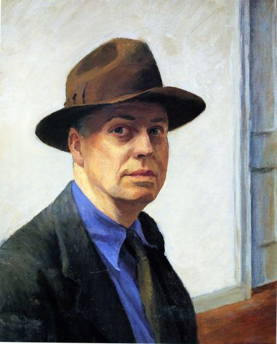 EDWARD HOPPER002autoportrait vers 1925