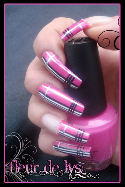Déco ongles rose