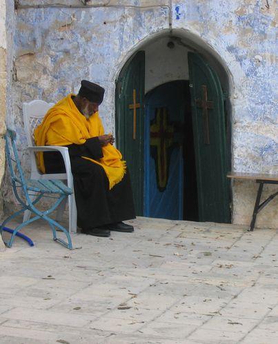 04 11 64 Jérusalem, Entrée du monastère Éthiopien qui m