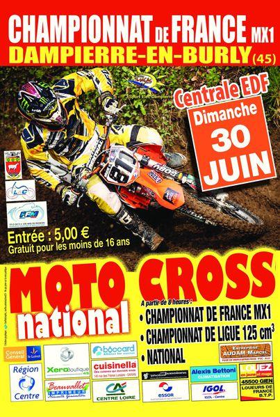 affichette moto cross 2013