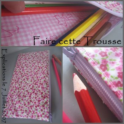 tuto trousse crayons