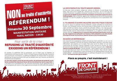 Appel pour un réferendum 30 septembre 2012