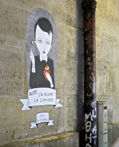 Street-art 4 Le Chevalier lumire 1
