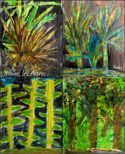 collage arbres