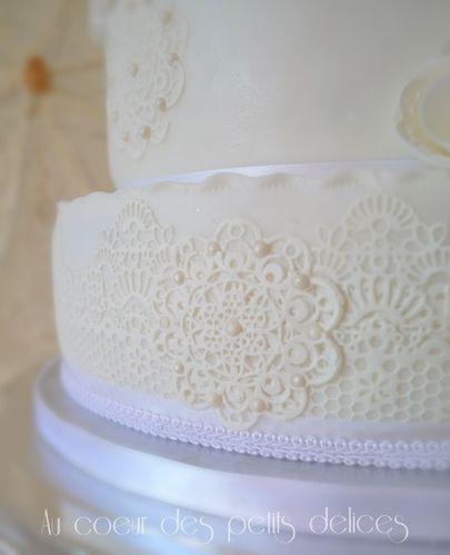 dentelles en sucre cake design nimes
