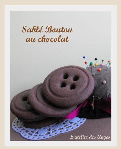 Sablé bouton chocolat 1
