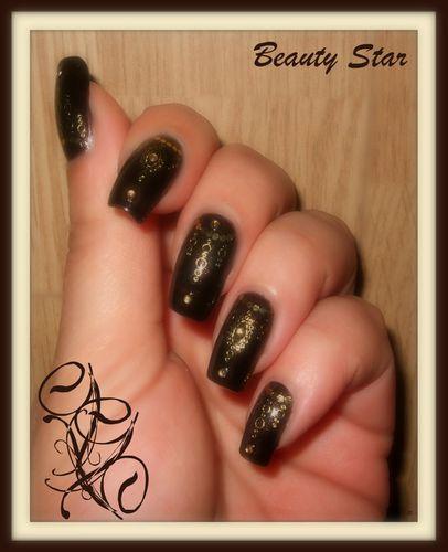 nail art dorure