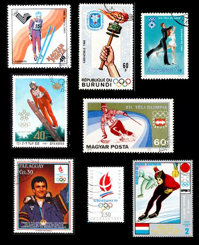 TIMBRES JEUX HIVER