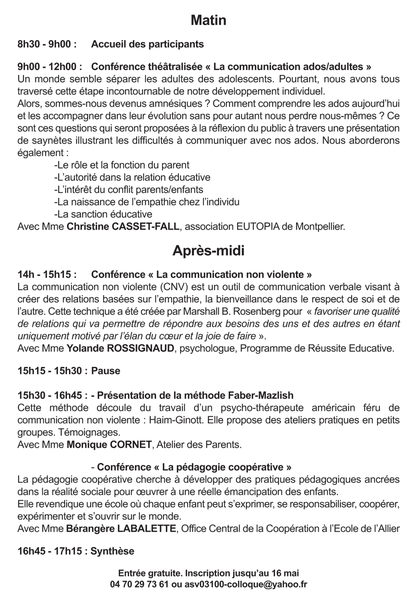 conference programme mai 2014