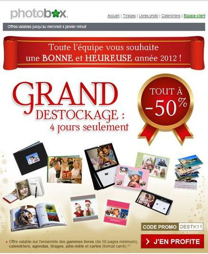 carte de voeux Photobox