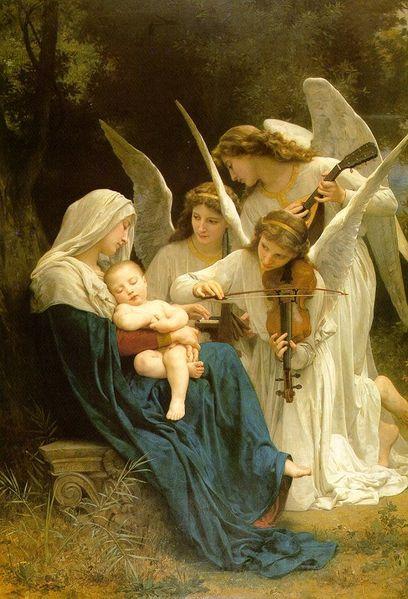 La Vierge aux Anges William Adolphe Bouguereau 1825-1905 14 - Cliquer sur l'image pour l'agrandir