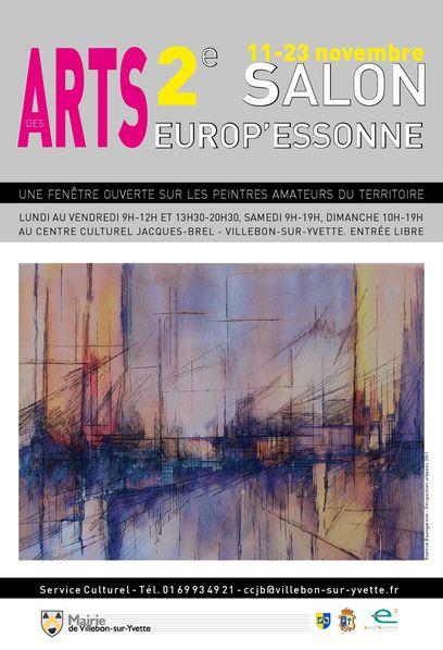 Affiche 2e Salon des Arts Europ'Essonne