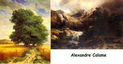 Alexandre Calame choix d'oeuvres