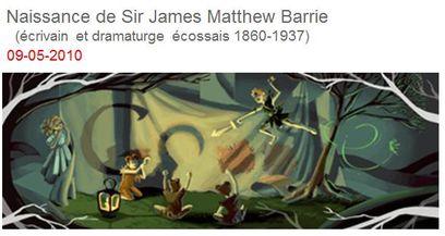 9 mai 1860 naissance de Sir James Mattew Barrie vu par Goog