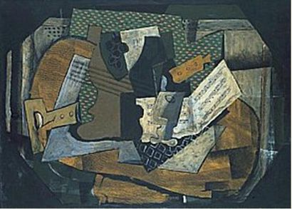 Still Life with Musical Instruments, 1918 Georges Braque