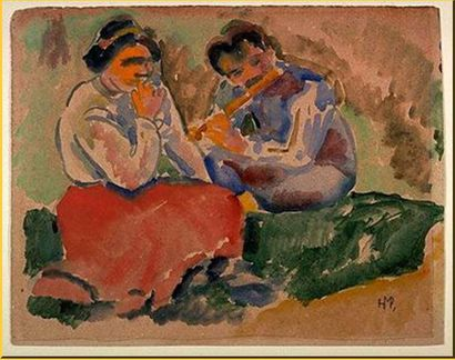 Flute-Playing-in-the-Country-Hermann-Max-Pechstein.jpg