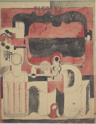 Abstraction (Violins and Bottles) (1925) Le Corbusier