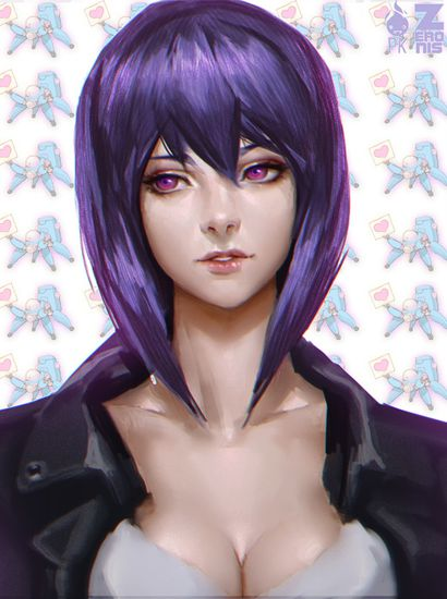 kusanagi portrait low rez by zeronis-d88z9cn