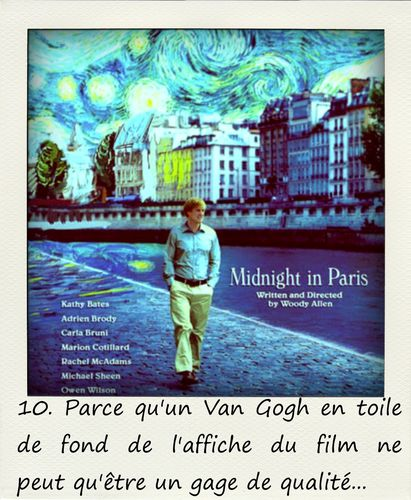 10. Raisons de voir Midnight in Paris
