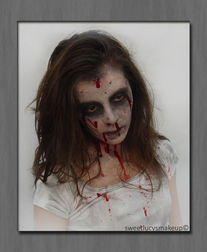 maquillage zombie sweet lucy s makeup. Black Bedroom Furniture Sets. Home Design Ideas