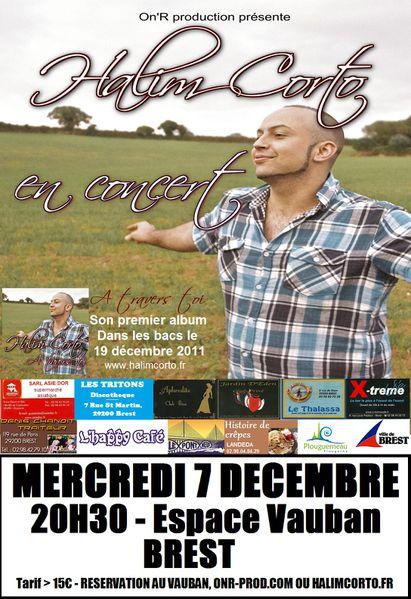 Halim Corto en concert à Brest le 7 décembre 2011