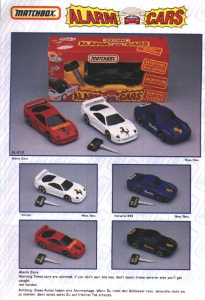 catalogue matchbox annee 1992 s28 alarm cars