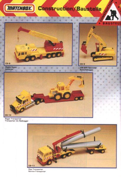 catalogue matchbox annee 1992 s36