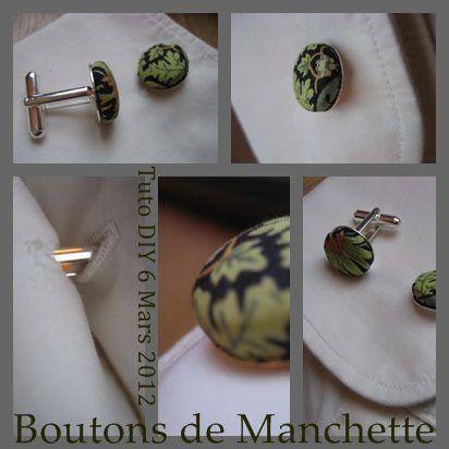 bouton de manchette TUTO DIY