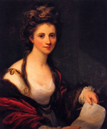 Joshua Reynolds Portrait of Angelika Kaufmann