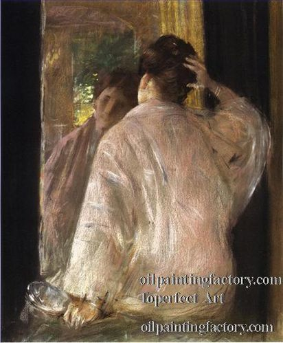 4 Dorothy mirror impressionism William Merritt Chase