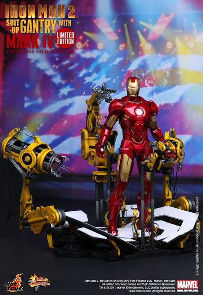 Iron-Man-2-Suit-Up-Gantry-With-Mark-IV-Limited-Edition-Hot-