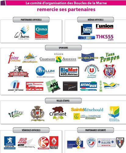 Boucles de la Marne 2011 Partenaires