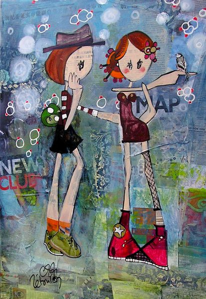 2010 TM # Birdy Girls # 50x70