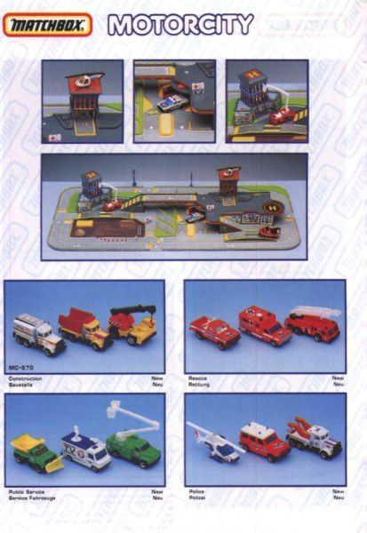 catalogue matchbox annee 1992 s22