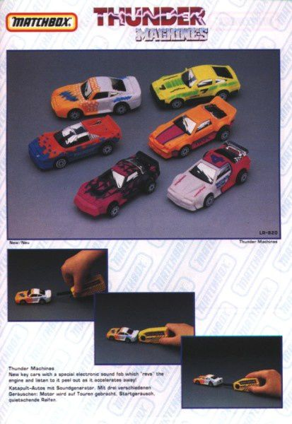 catalogue matchbox annee 1992 s29 thunder machines