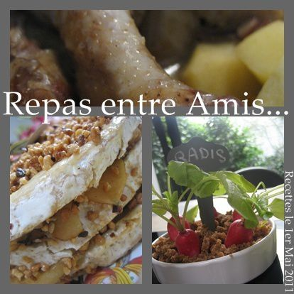 Menu de printemps id es originales que cache ma for Idee repas entre amis original