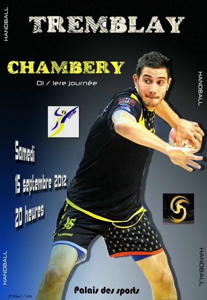 Affiche D1 TREMBLAY CHAMBERY 15 09 2012