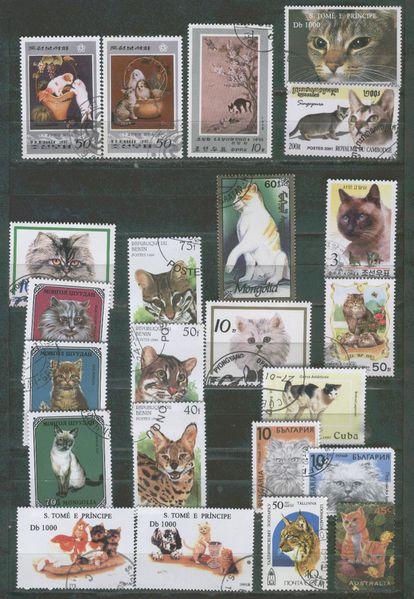 timbres-chats-et-felins-quelques-pays.jpg