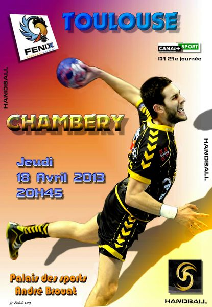 Affiche D1 TOULOUSE CHAMBERY 18 04 2013