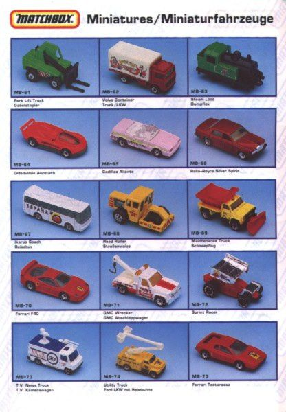 catalogue matchbox annee 1992 s06