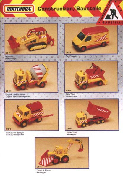 catalogue matchbox annee 1992 s35 set construction