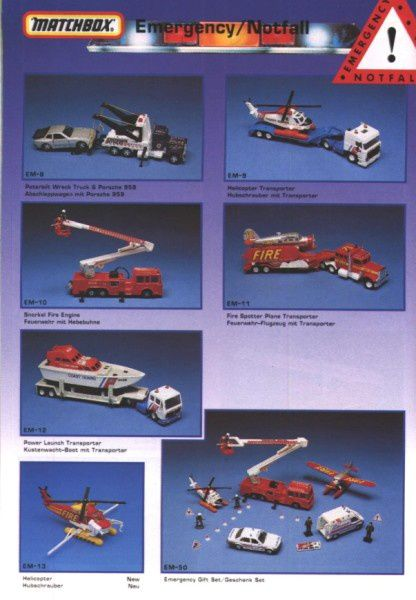 catalogue matchbox annee 1992 s38